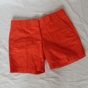 J. CREW CHINO BROKEN IN ORANGE SHORTS SIZE 8